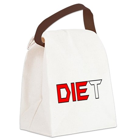 diet3.png Canvas Lunch Bag