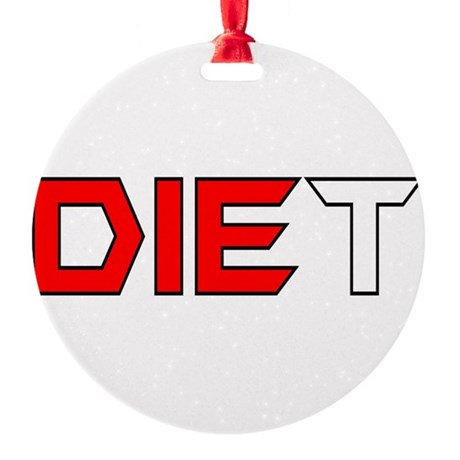 diet3.png Round Ornament