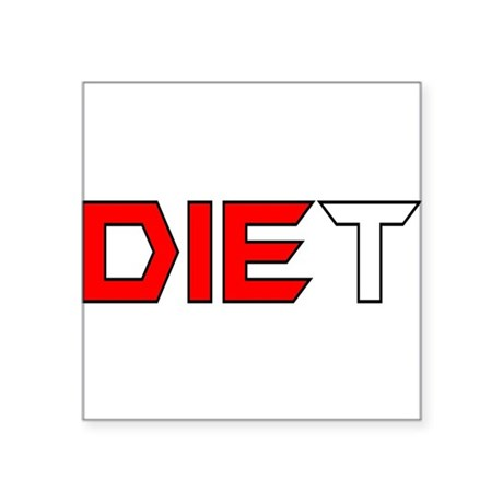 "diet3.png Square Sticker 3"" x 3"""