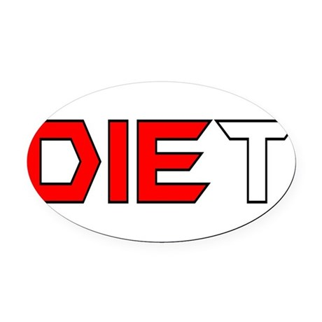 diet3.png Oval Car Magnet