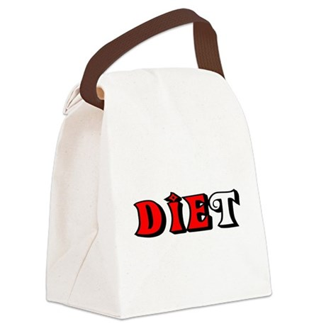 diet.png Canvas Lunch Bag