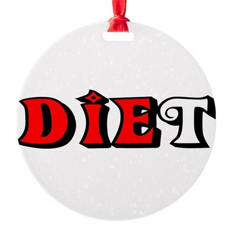 diet.png Round Ornament
