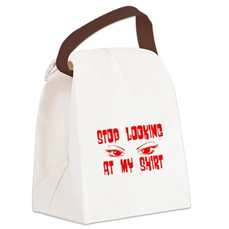 stoplooking2.png Canvas Lunch Bag