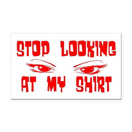 stoplooking2.png Rectangle Car Magnet