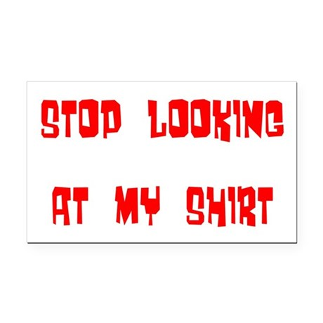 stop looking Rectangle Car Magnet