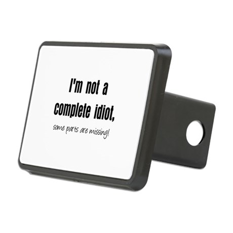 completeidiotblk.JPG Rectangular Hitch Cover