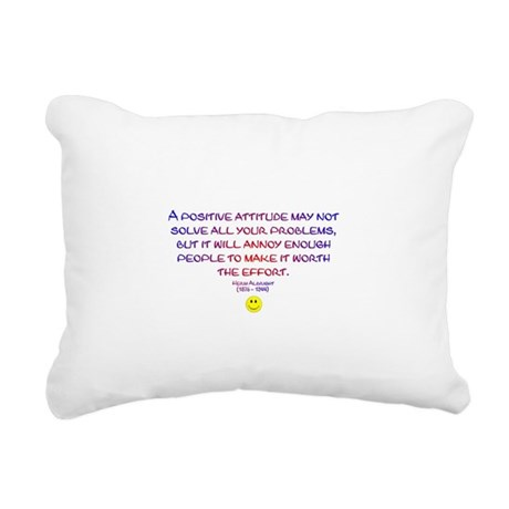 Positively Annoying Rectangular Canvas Pillow