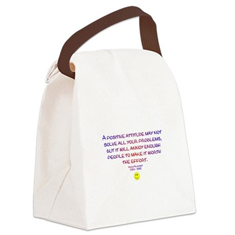 Positively Annoying Canvas Lunch Bag