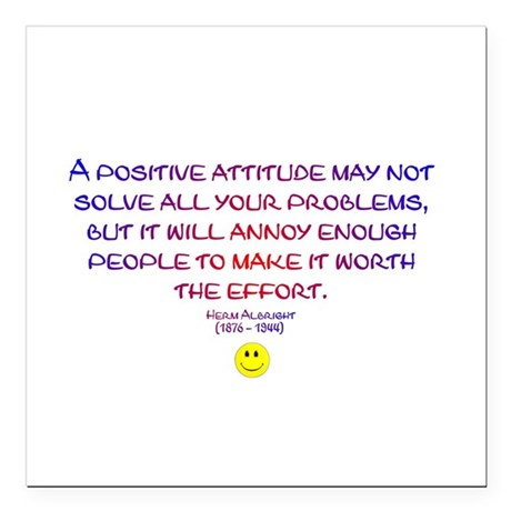 "Positively Annoying Square Car Magnet 3"" x 3"""