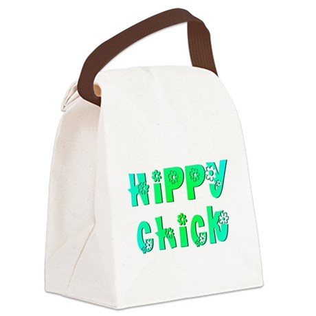 Hippy Chick Canvas Lunch Bag