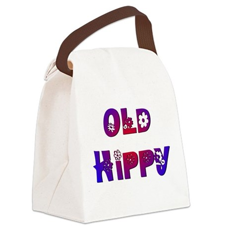 Old Hippy Canvas Lunch Bag