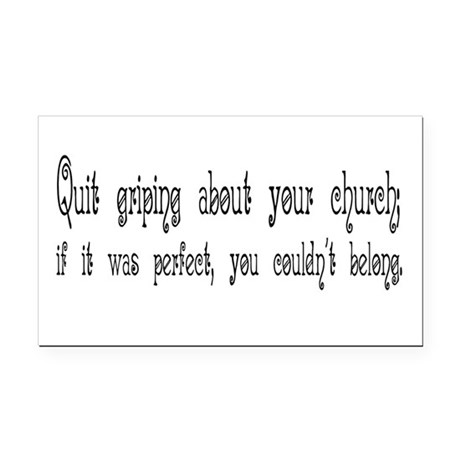Quit Griping Rectangle Car Magnet