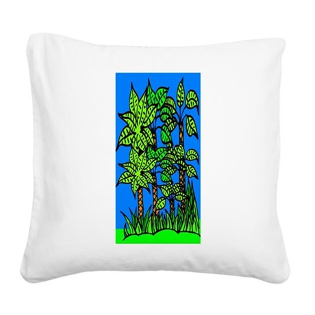 trees.jpg Square Canvas Pillow
