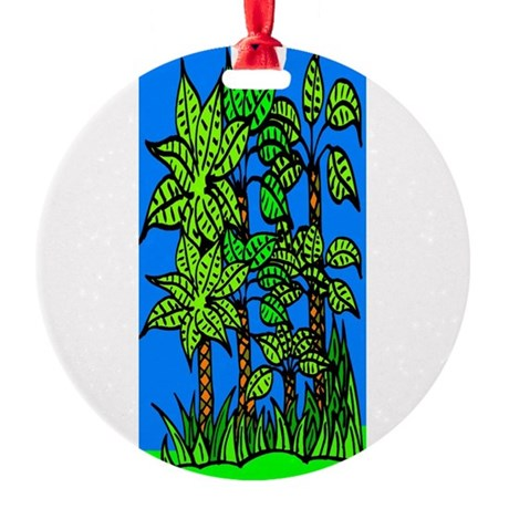 trees.jpg Round Ornament