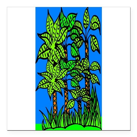 "trees.jpg Square Car Magnet 3"" x 3"""