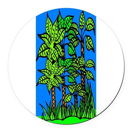 trees.jpg Round Car Magnet