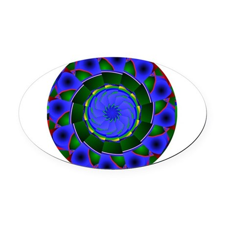 0001a.png Oval Car Magnet