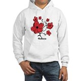 Personalized Modern Red and Black Floral Design Ho