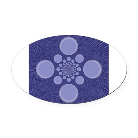 abstract.png Oval Car Magnet