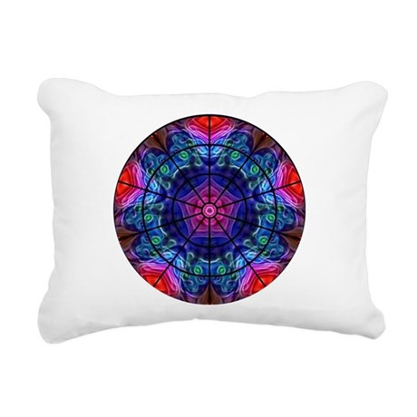 Kaleidoscope Fractal 8 Rectangular Canvas Pillow
