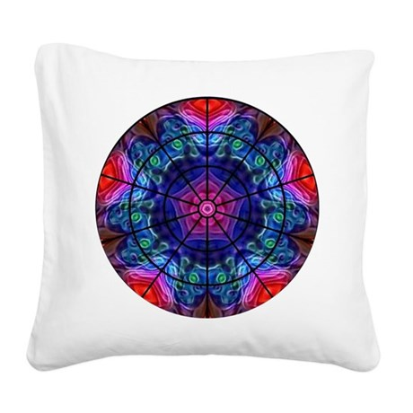 Kaleidoscope Fractal 8 Square Canvas Pillow