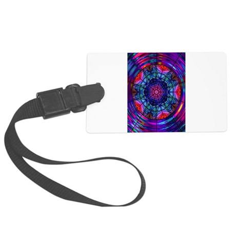 Kaleidoscope Fractal 8 Large Luggage Tag