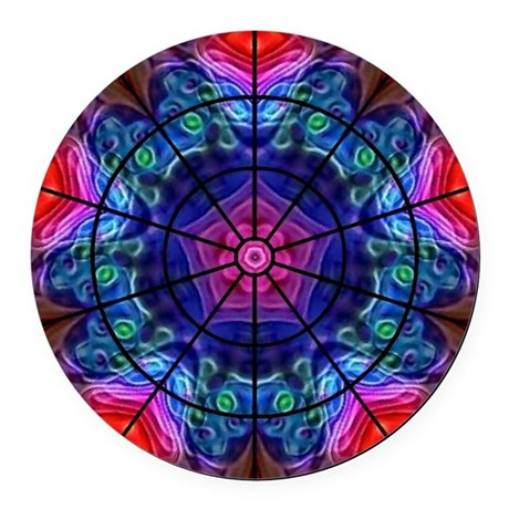 Kaleidoscope Fractal 8 Round Car Magnet