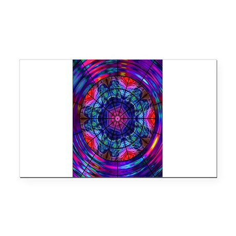 Kaleidoscope Fractal 8 Rectangle Car Magnet