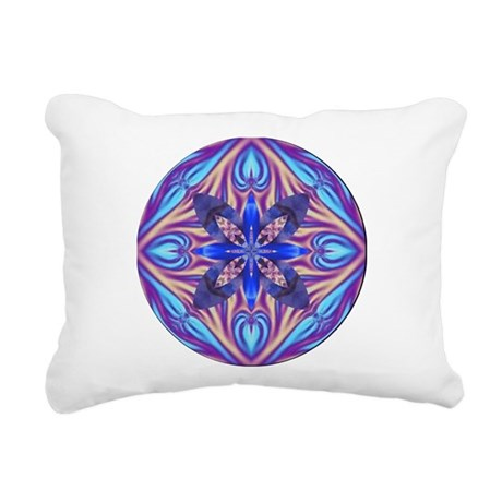Kaleidoscope Fractal 003 Rectangular Canvas Pillow