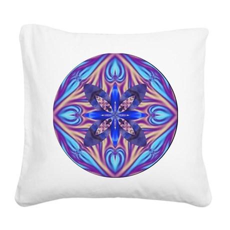Kaleidoscope Fractal 003 Square Canvas Pillow