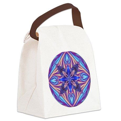 Kaleidoscope Fractal 003 Canvas Lunch Bag