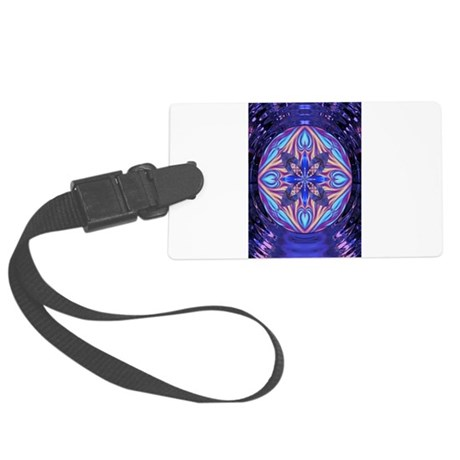 Kaleidoscope Fractal 003 Large Luggage Tag
