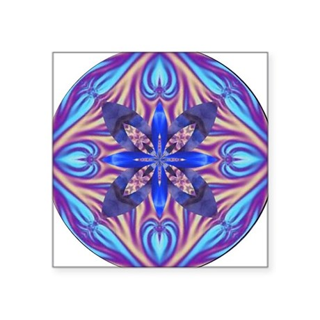 "Kaleidoscope Fractal 003 Square Sticker 3"" x 3"""
