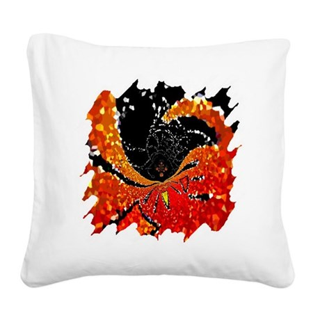 Crystal Web Square Canvas Pillow