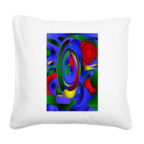 Abstract 001 - tall Square Canvas Pillow