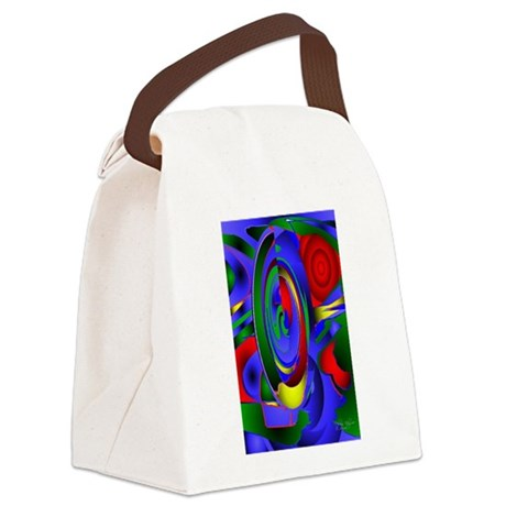 Abstract 001 - tall Canvas Lunch Bag