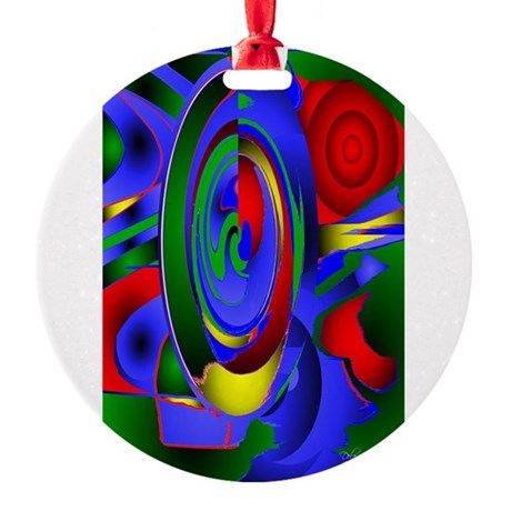 Abstract 001 - tall Round Ornament