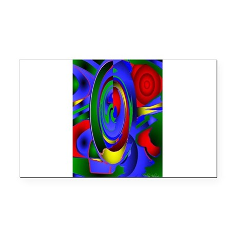 Abstract 001 - tall Rectangle Car Magnet
