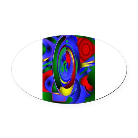 Abstract 001 - tall Oval Car Magnet