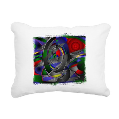 Abstract 002a Rectangular Canvas Pillow