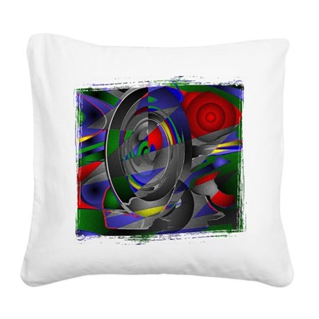 Abstract 002a Square Canvas Pillow