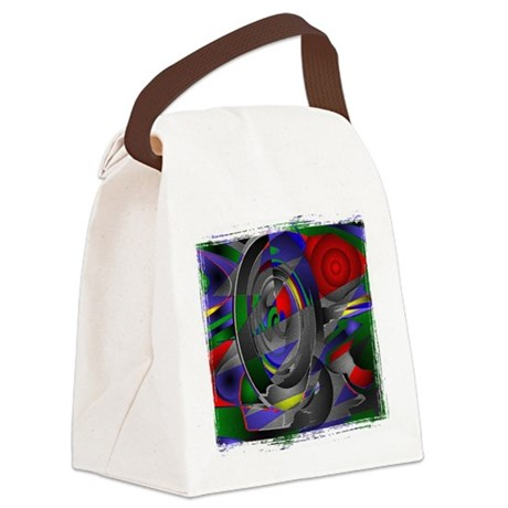 Abstract 002a Canvas Lunch Bag