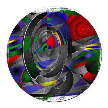 Abstract 002a Round Car Magnet