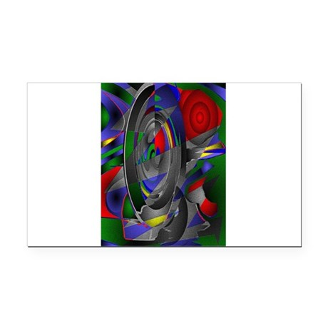Abstract 002a Rectangle Car Magnet