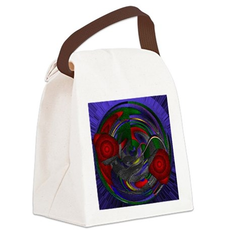 Abstract 005 Canvas Lunch Bag