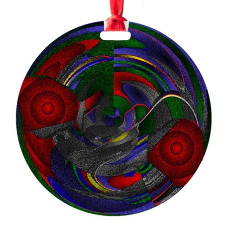 Abstract 005 Round Ornament
