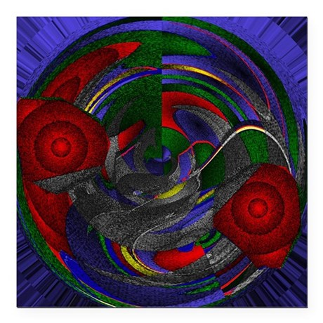"Abstract 005 Square Car Magnet 3"" x 3"""