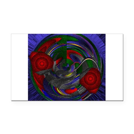 Abstract 005 Rectangle Car Magnet