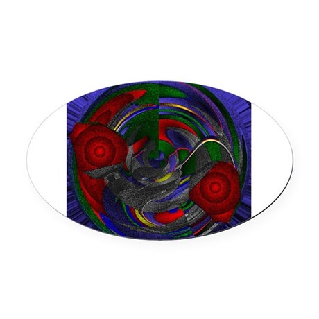 Abstract 005 Oval Car Magnet
