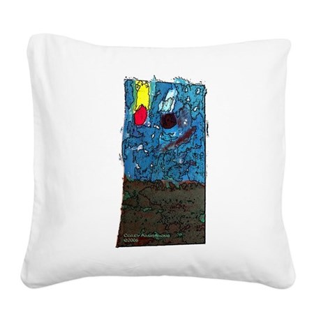 twoasteroidssq.JPG Square Canvas Pillow